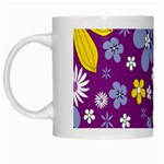 Floral Flowers White Mugs