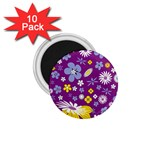 Floral Flowers 1.75  Magnets (10 pack)