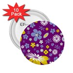 Floral Flowers 2.25  Buttons (10 pack)