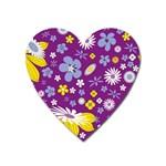 Floral Flowers Heart Magnet