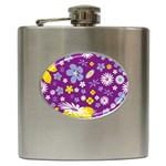 Floral Flowers Hip Flask (6 oz)