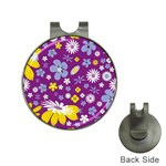 Floral Flowers Hat Clips with Golf Markers