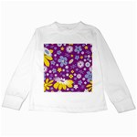 Floral Flowers Kids Long Sleeve T-Shirts