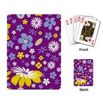 Floral Flowers Playing Card