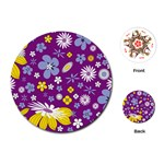 Floral Flowers Playing Cards (Round)