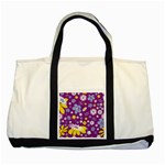 Floral Flowers Two Tone Tote Bag