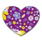 Floral Flowers Heart Mousepads