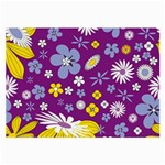 Floral Flowers Large Glasses Cloth