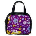 Floral Flowers Classic Handbags (One Side)