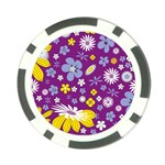 Floral Flowers Poker Chip Card Guard (10 pack)