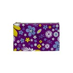 Floral Flowers Cosmetic Bag (Small)