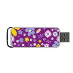 Floral Flowers Portable USB Flash (Two Sides)