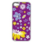 Floral Flowers Apple iPhone 5 Case (Silver)