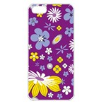 Floral Flowers Apple iPhone 5 Seamless Case (White)