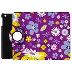 Floral Flowers Apple iPad Mini Flip 360 Case