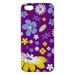 Floral Flowers Apple iPhone 5 Premium Hardshell Case