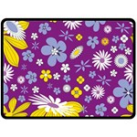 Floral Flowers Double Sided Fleece Blanket (Large)