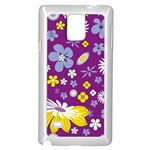 Floral Flowers Samsung Galaxy Note 4 Case (White)