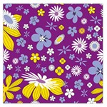 Floral Flowers Large Satin Scarf (Square)