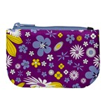 Floral Flowers Large Coin Purse