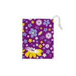 Floral Flowers Drawstring Pouches (XS)