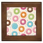 Colored Doughnuts Pattern Framed Tiles