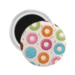 Colored Doughnuts Pattern 2.25  Magnets