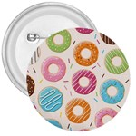 Colored Doughnuts Pattern 3  Buttons