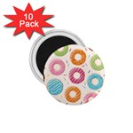 Colored Doughnuts Pattern 1.75  Magnets (10 pack)