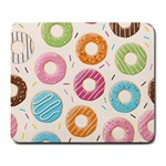 Colored Doughnuts Pattern Large Mousepads