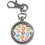 Colored Doughnuts Pattern Key Chain Watches