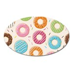 Colored Doughnuts Pattern Oval Magnet