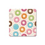 Colored Doughnuts Pattern Square Magnet