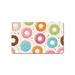 Colored Doughnuts Pattern Magnet (Name Card)