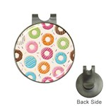 Colored Doughnuts Pattern Hat Clips with Golf Markers