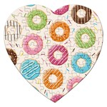 Colored Doughnuts Pattern Jigsaw Puzzle (Heart)