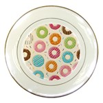 Colored Doughnuts Pattern Porcelain Plates