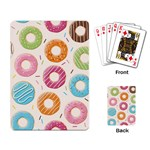Colored Doughnuts Pattern Playing Card