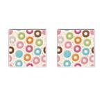 Colored Doughnuts Pattern Cufflinks (Square)