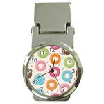 Colored Doughnuts Pattern Money Clip Watches