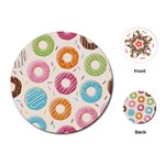 Colored Doughnuts Pattern Playing Cards (Round)