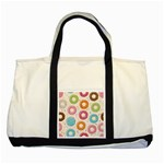 Colored Doughnuts Pattern Two Tone Tote Bag
