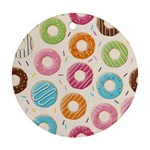 Colored Doughnuts Pattern Round Ornament (Two Sides)
