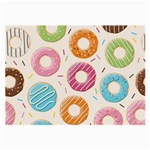 Colored Doughnuts Pattern Large Glasses Cloth