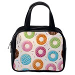 Colored Doughnuts Pattern Classic Handbags (One Side)