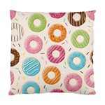 Colored Doughnuts Pattern Standard Cushion Case (One Side)