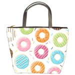Colored Doughnuts Pattern Bucket Bags