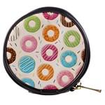 Colored Doughnuts Pattern Mini Makeup Bags