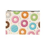 Colored Doughnuts Pattern Cosmetic Bag (Large)