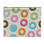 Colored Doughnuts Pattern Cosmetic Bag (XL)